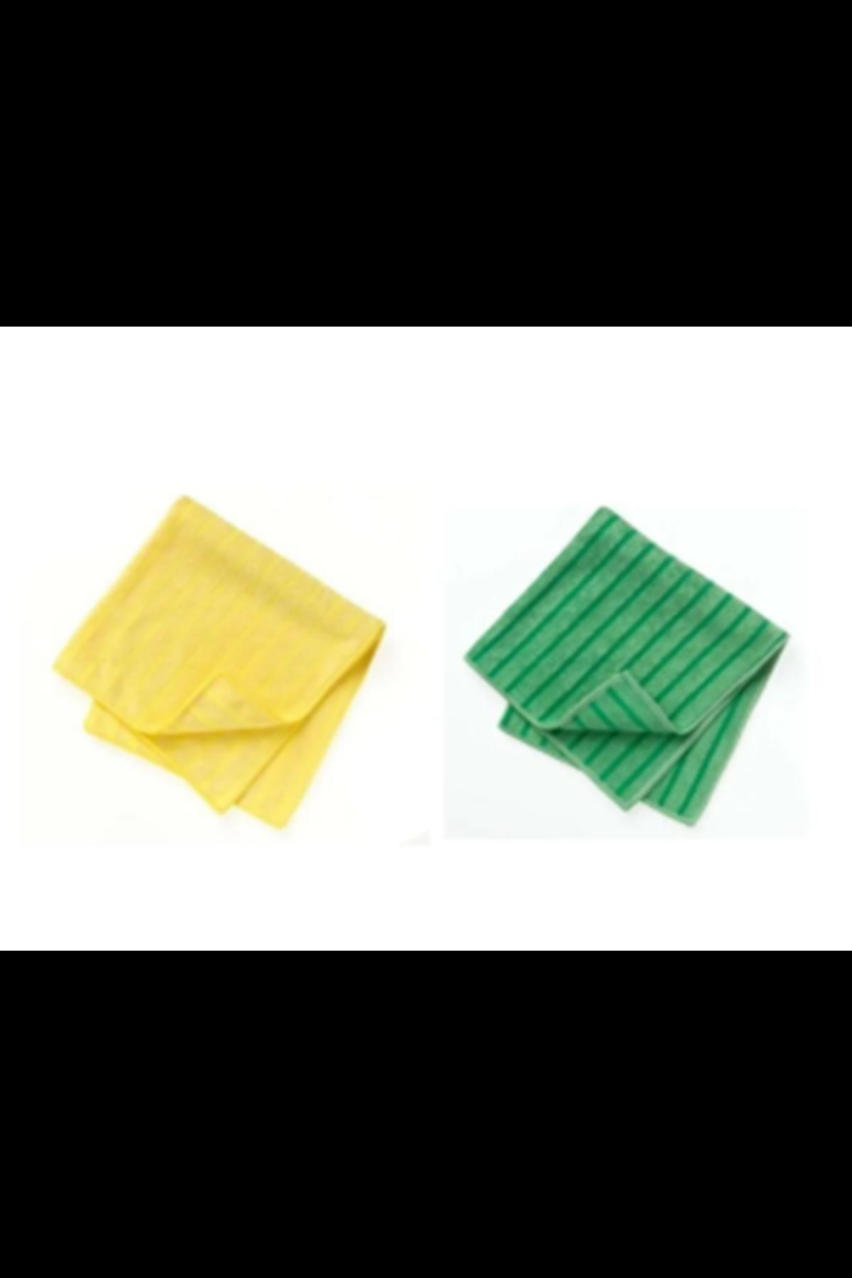 3M Scotch Brite Mikrofiber Sarı/Yeşil Bez 40*40 4 Adet (SB2025)