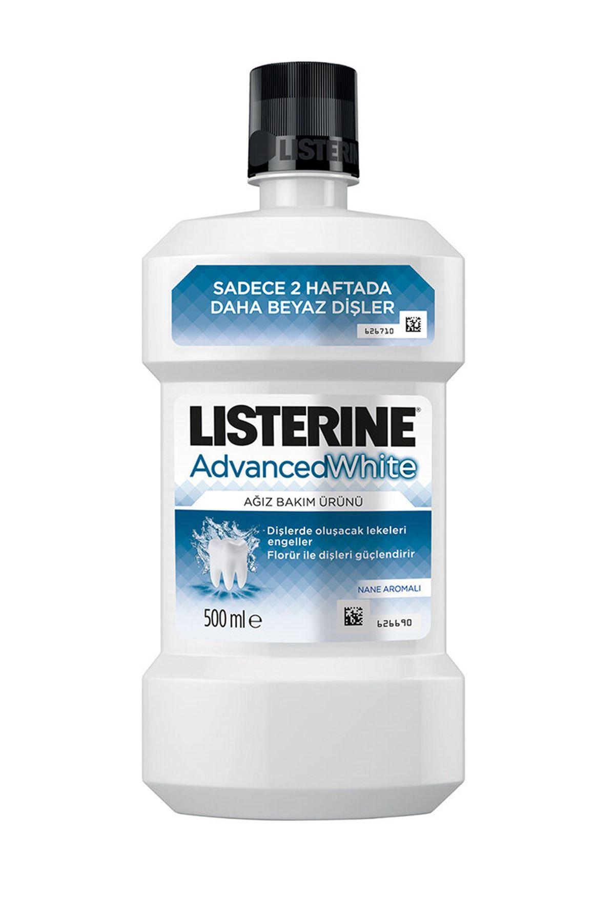Listerine Advance White Hafif Tat 500 ML