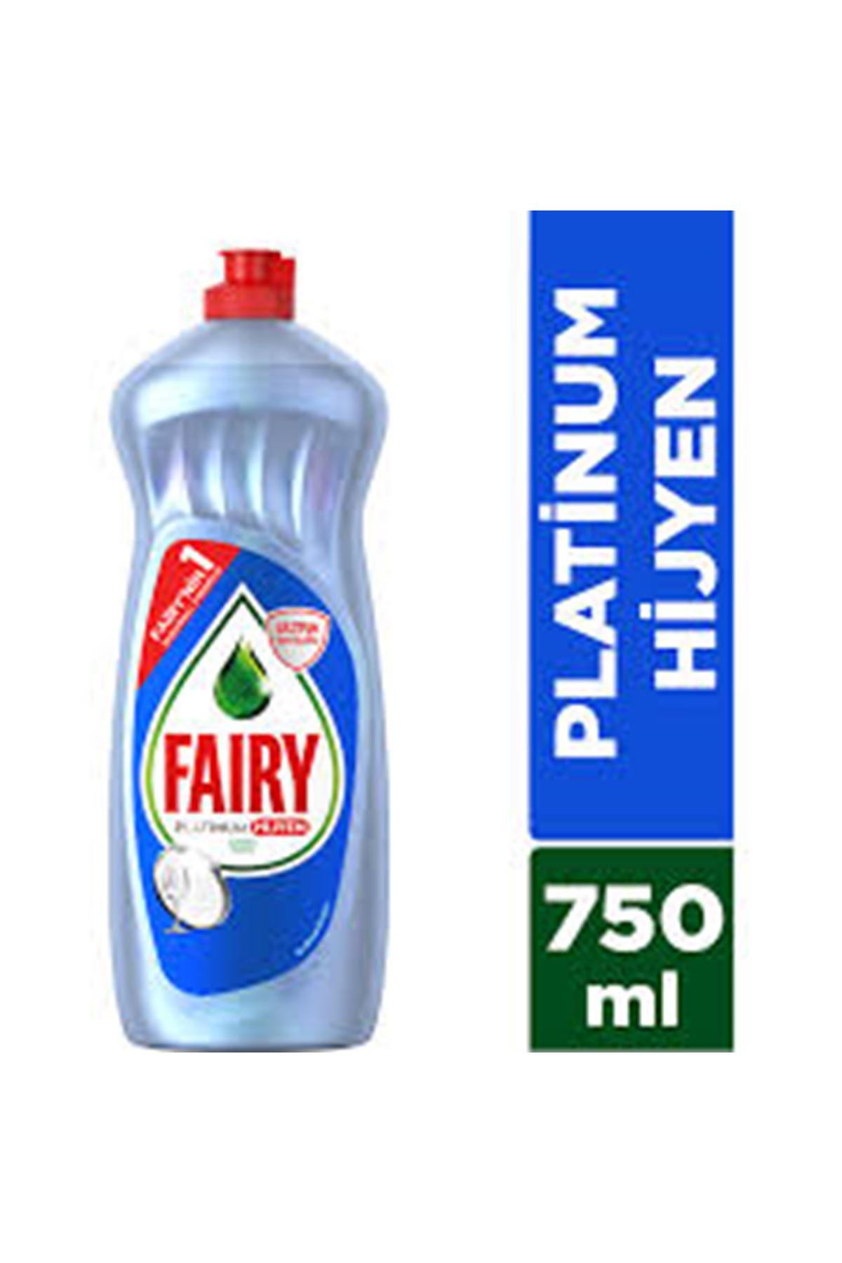 Fairy Platinum Hijyen Limonlu Sıvı Elde Bulaşık Deterjanı 750 ml
