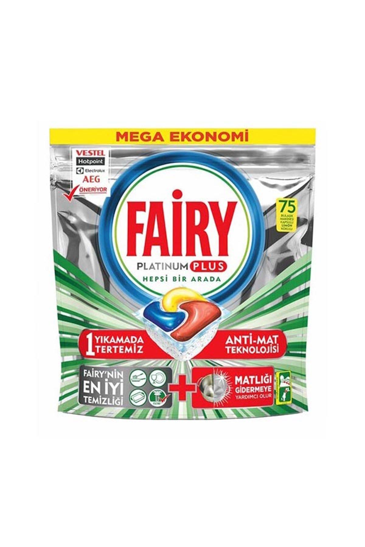 Fairy Platinum Plus Bulaşık Makinesi Deterjanı Kapsülü 75 Yıkama
