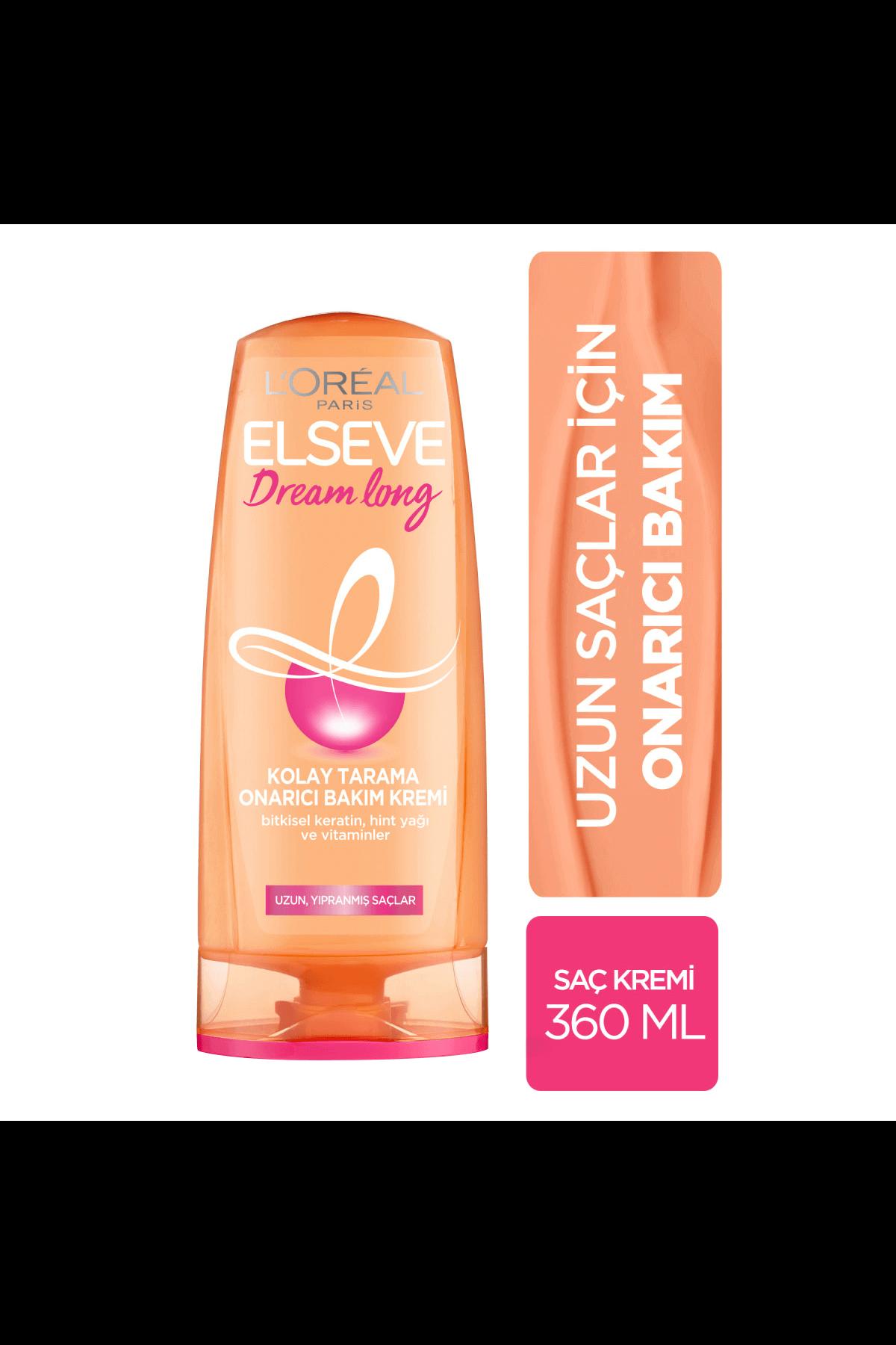 L'Oreal Paris  Elseve Dream Long Kolay Tarama Onarıcı Saç Kremi 360 ml