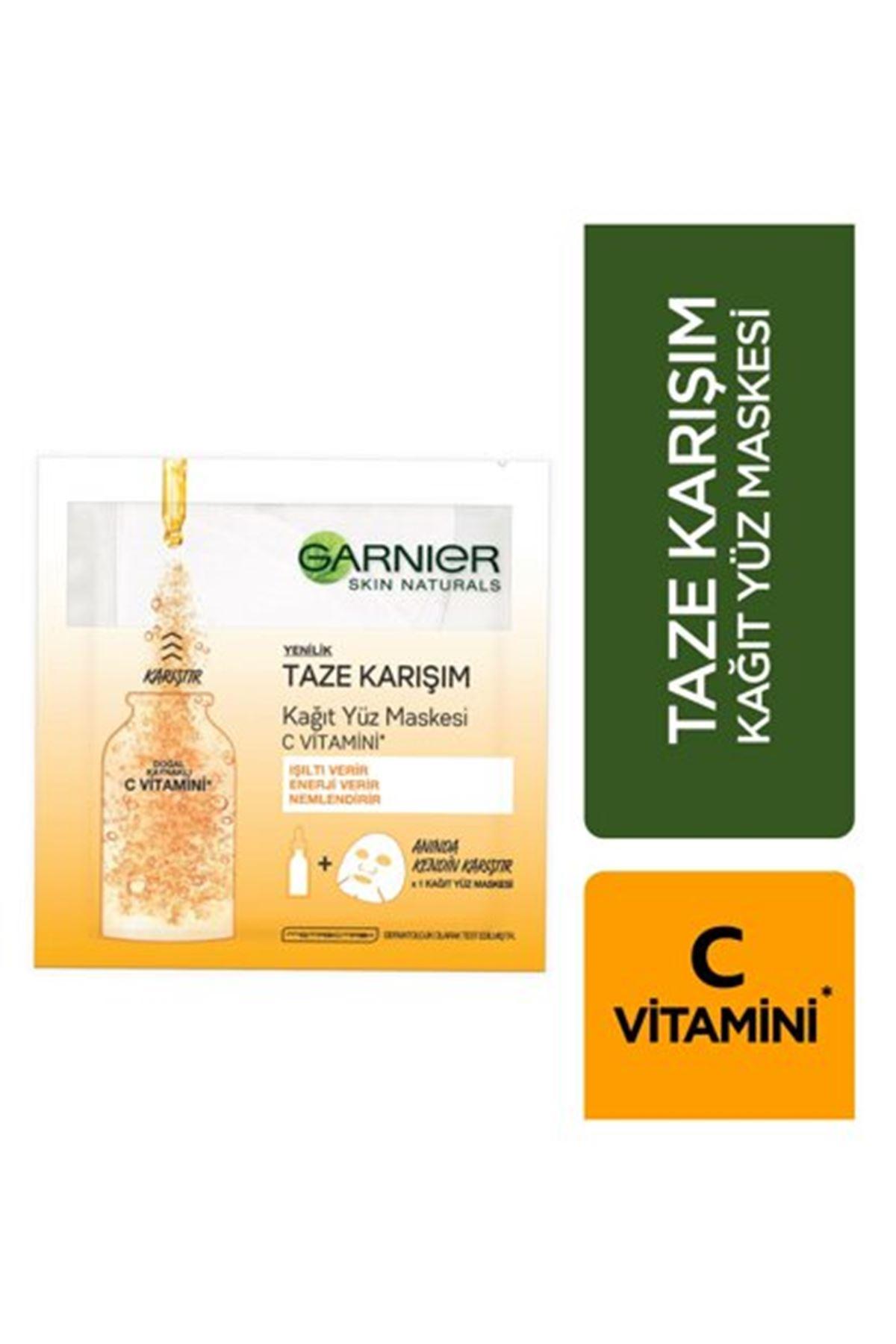 Garnier Taze Karışım C Vitamini Kağıt Yüz Maskesi