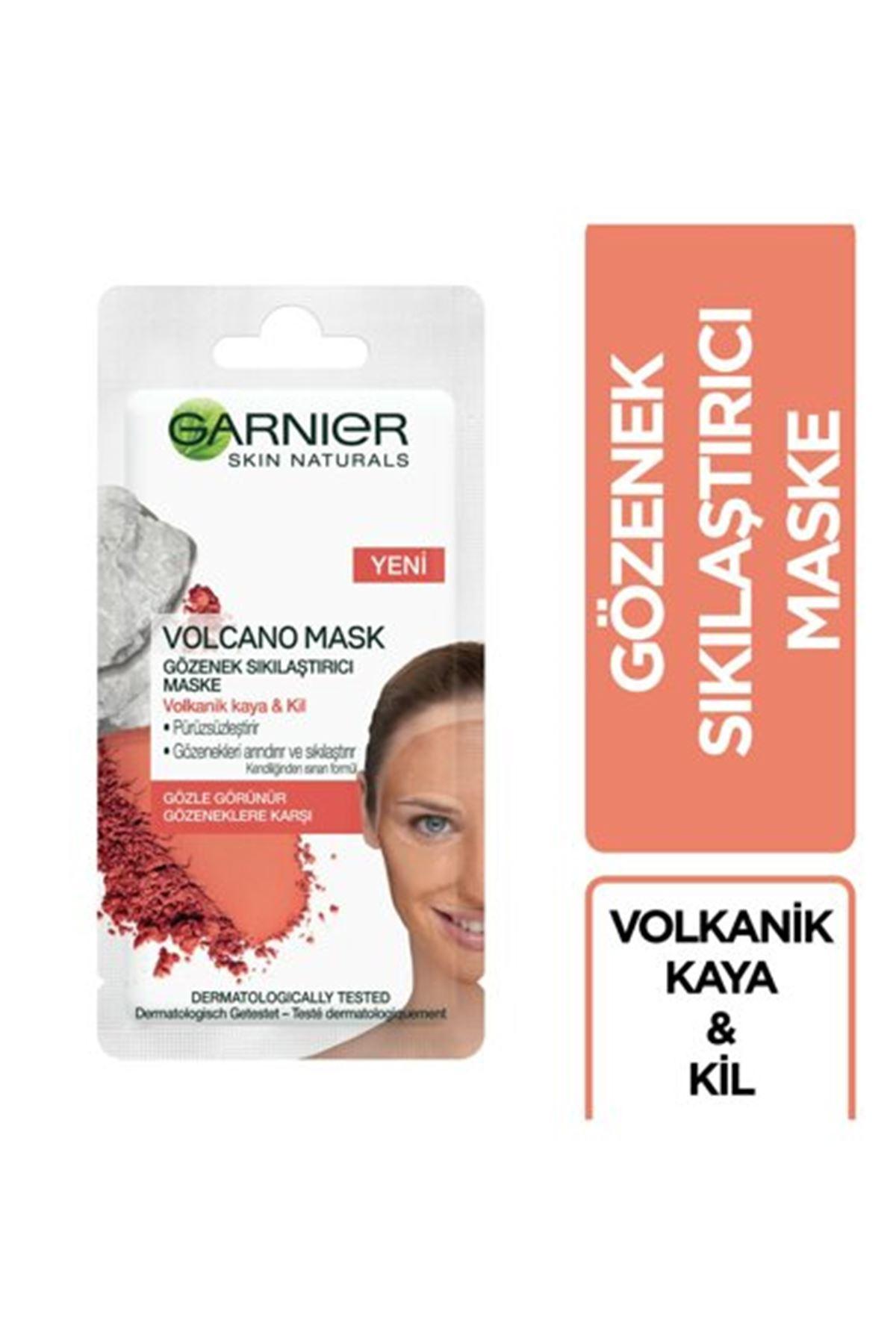 Garnier Volkanik Kaya ve Kil İçeren Gözenek Sıkılaştırıcı Kağıt Maske