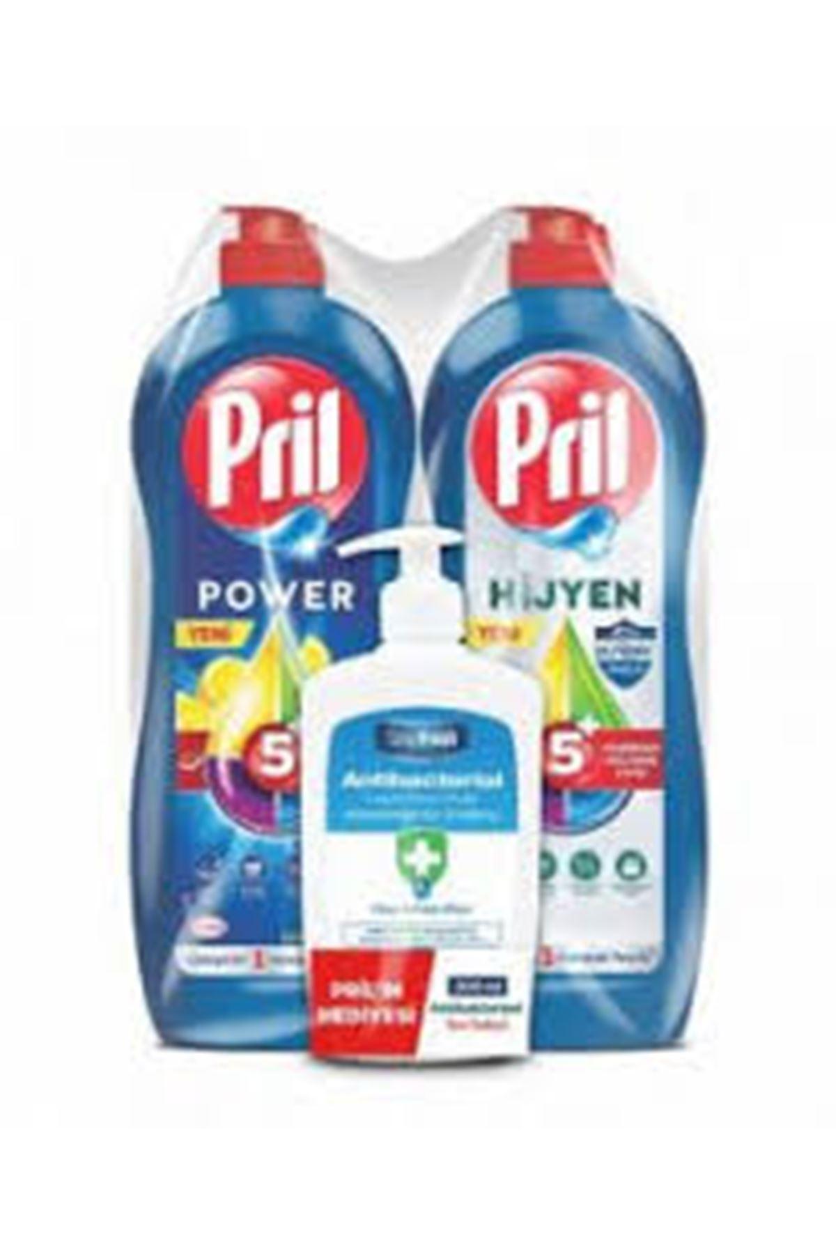 PRİL BULAŞIK DETERJANI Power ve Hijyen 2x675 GR  // 300 Ml Antibacterial DeepFresh Sıvı Sabun Hediye