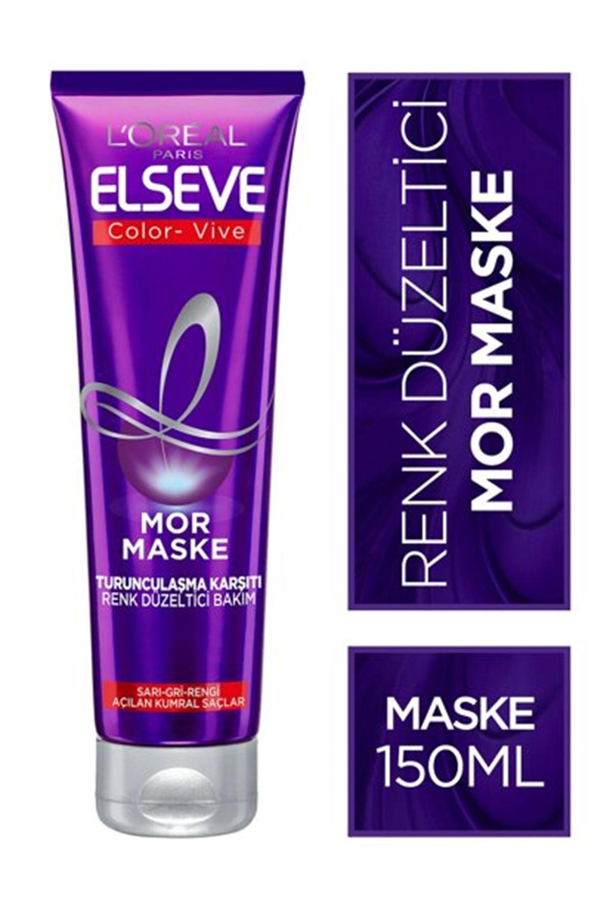 Loreal Paris Elseve Color-vive Purple Maske Silver Mor Maske 150 ml.
