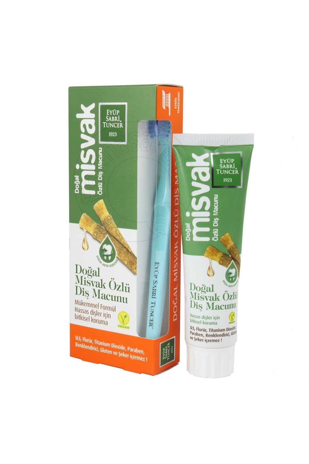 Eyüp Sabri Tuncer Doğal Misvak Özlü Diş Macunu 75 ml *diş fırçası hediyeli*
