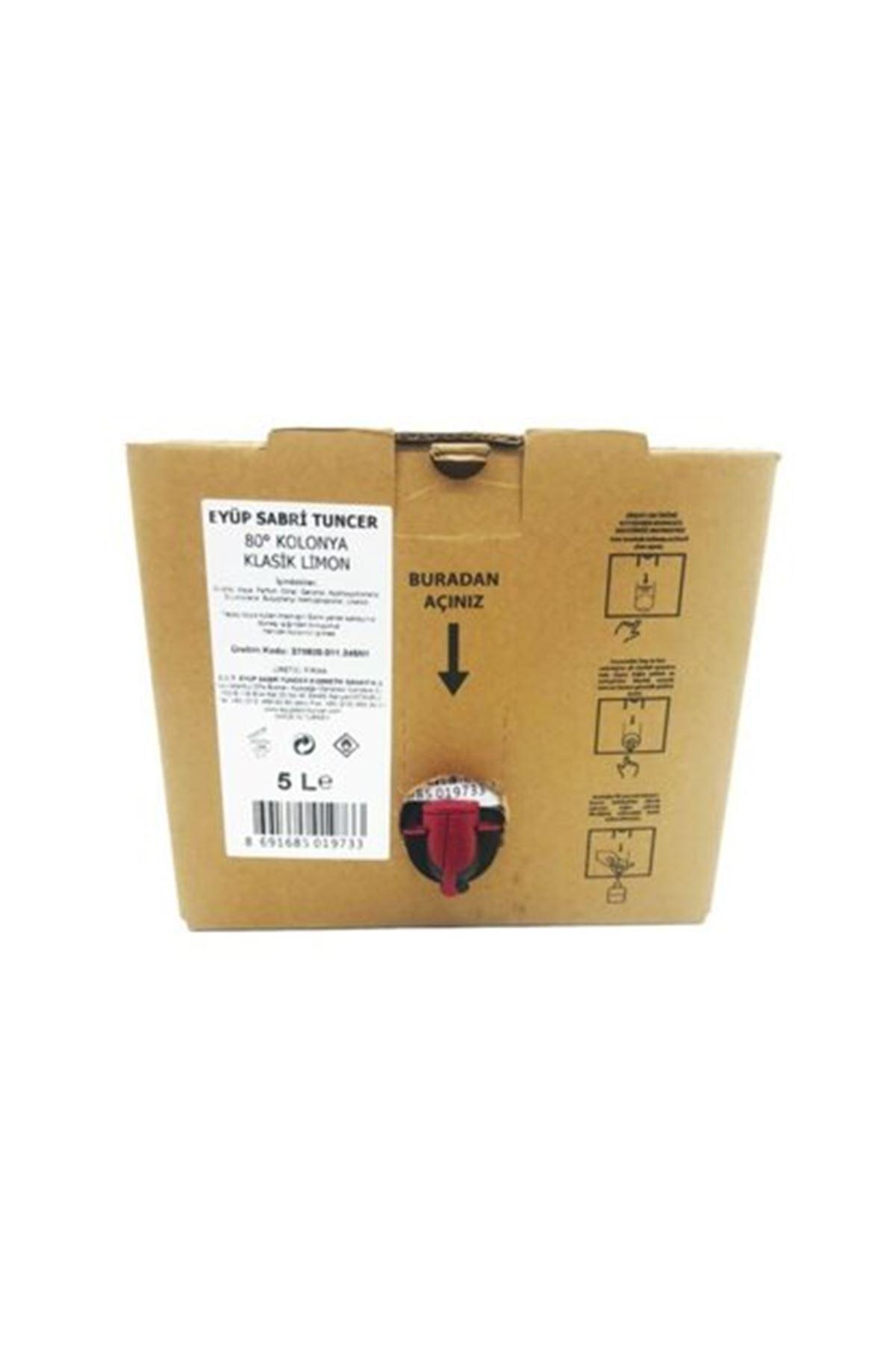 Eyüp Sabri Tuncer Klasik Limon Kolonyası 5 lt - Bag in Box