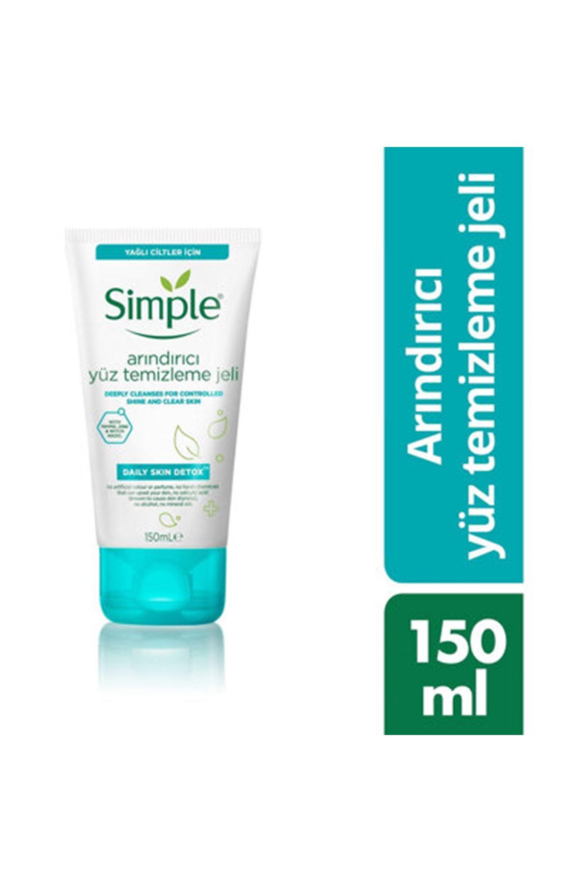 Simple Daily Skin Detox Yüz Temizleme Jeli 150 ML