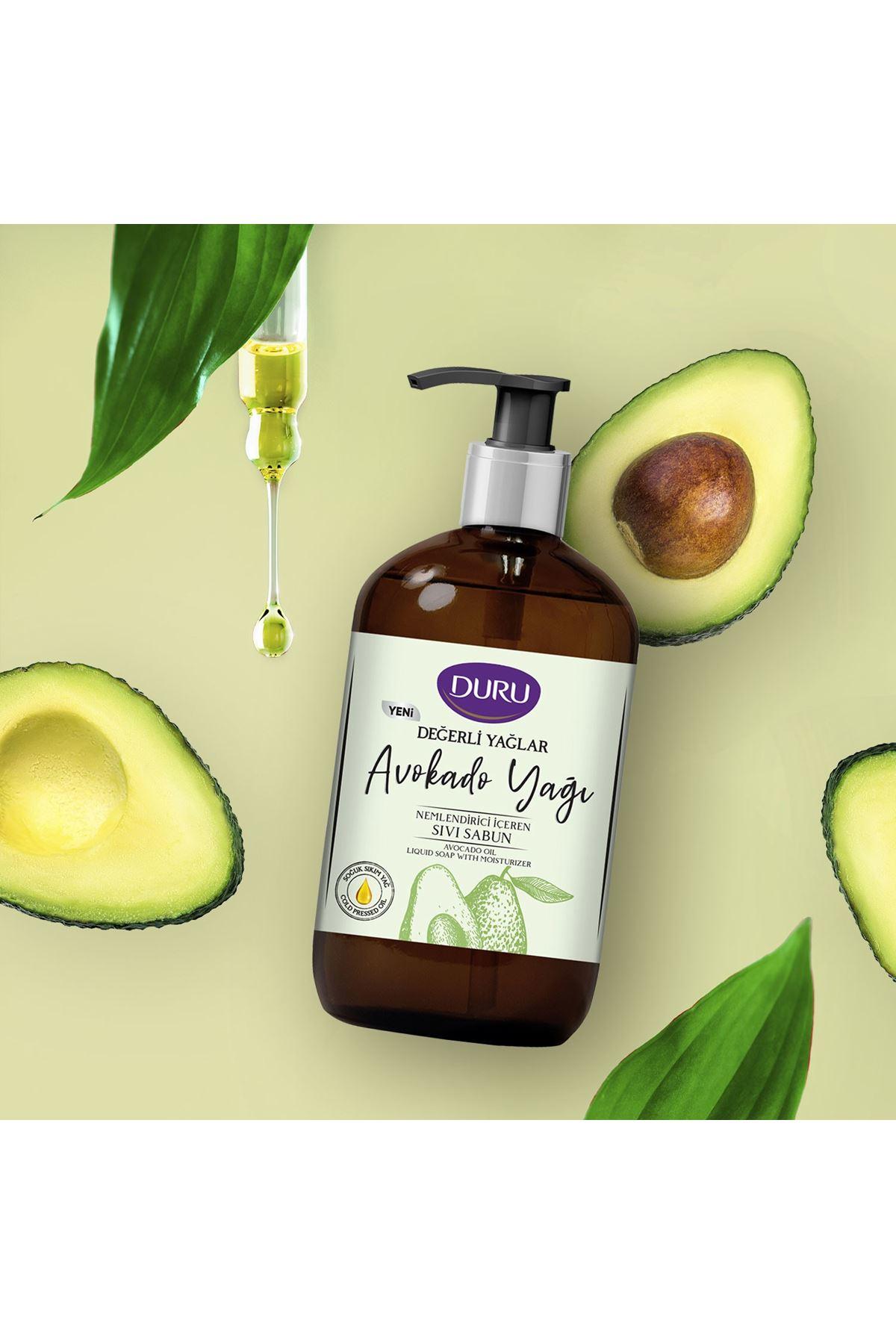 Duru Değerli Yağlar Avokado Yağı Sıvı Sabun 500 ml