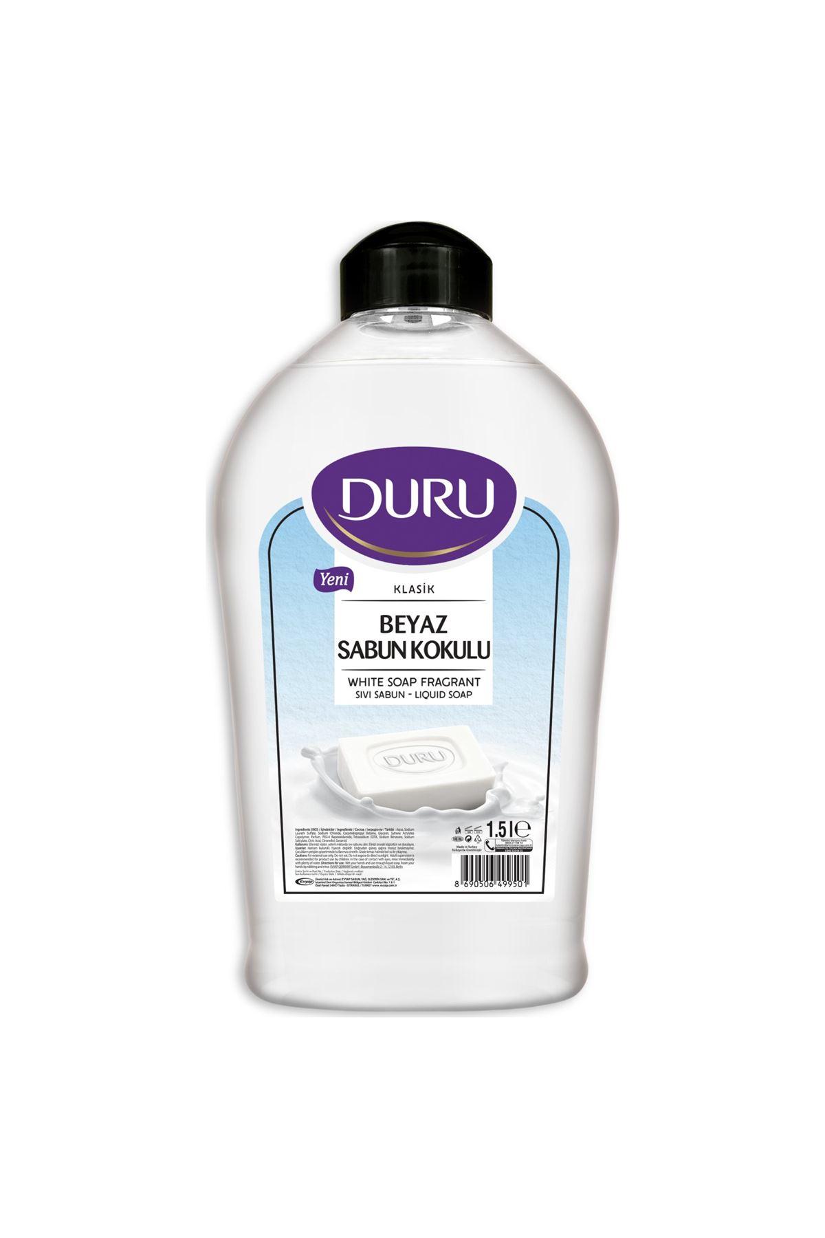 Duru Beyaz Sabun Kokulu Sıvı Sabun  1500 ml