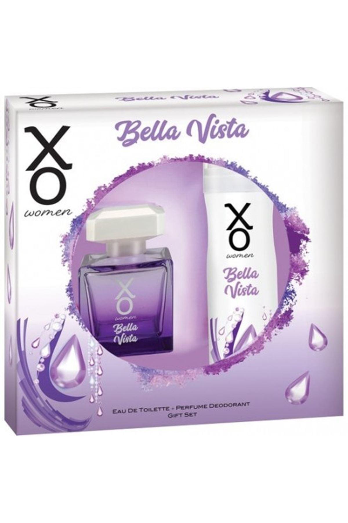 XO Kadın Parfüm Bella Vista 100ml Edt+ 125 ml Deodorant