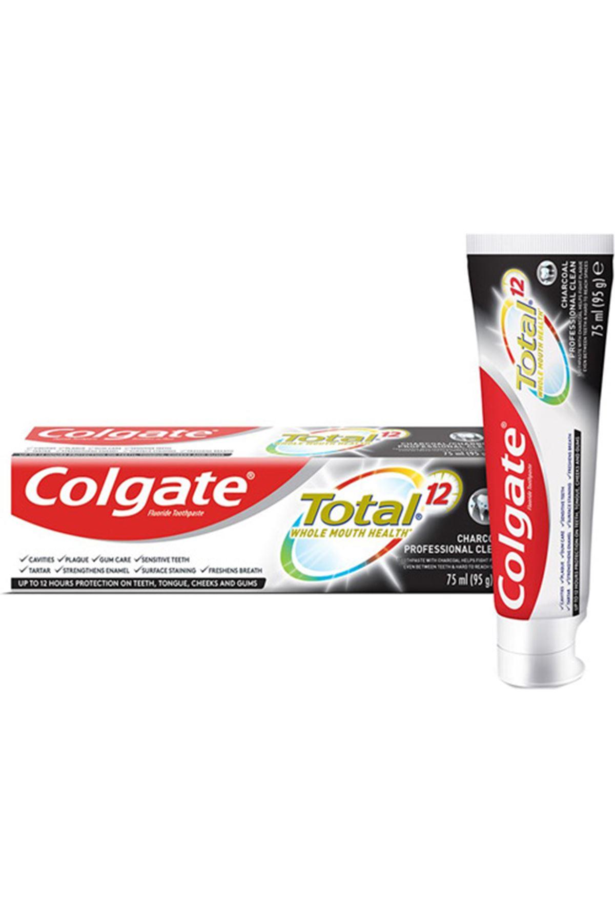 Colgate Total Aktif Kömür Profesyonel Temizlik Diş Macunu 75 ml