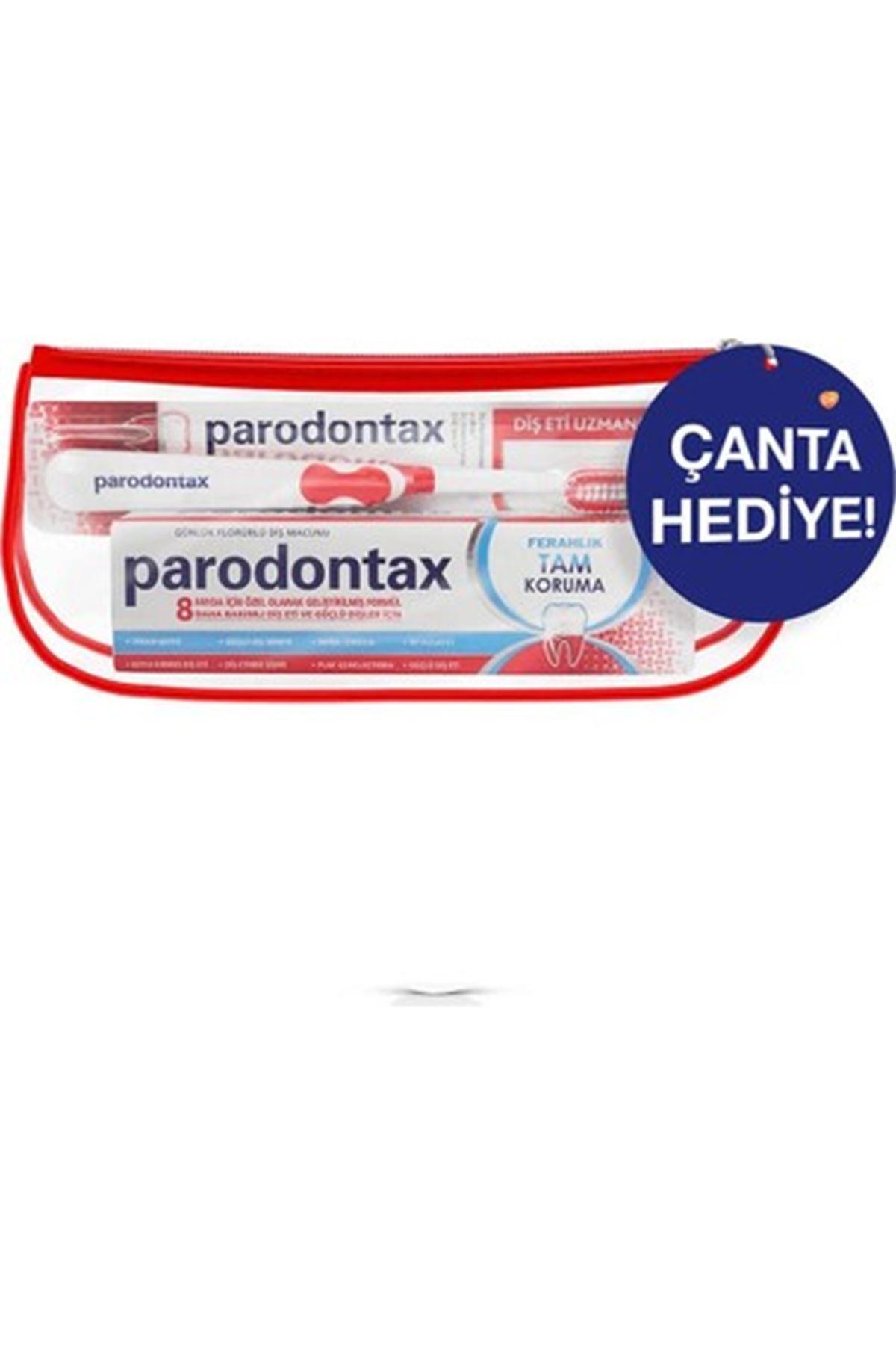 Parodontax Diş Macunu 75 Ml + Diş Fırçası Çantalı Paket
