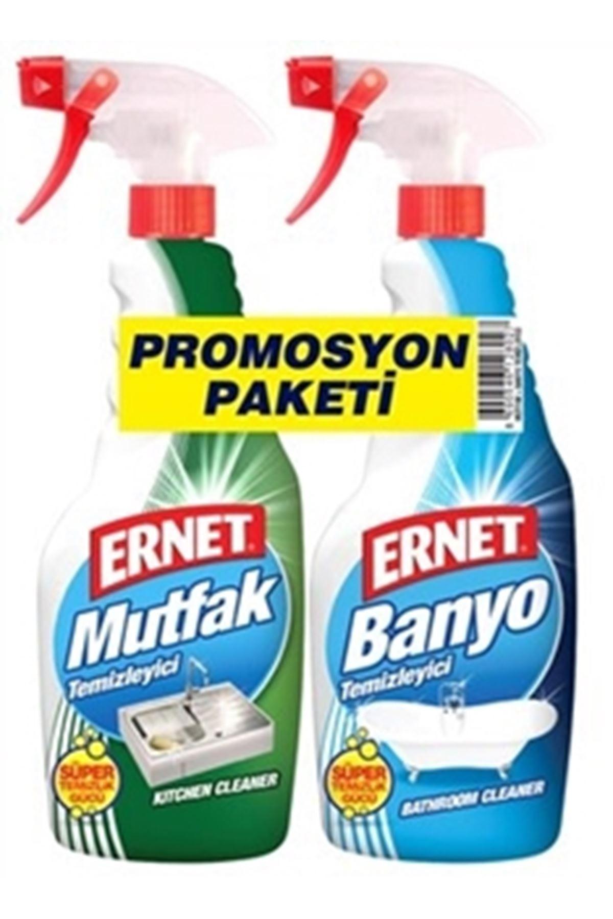 Ernet Süper Likit Promosyon Mutfak + Banyo Temizleyici Spreyli (1+1) 750 Ml
