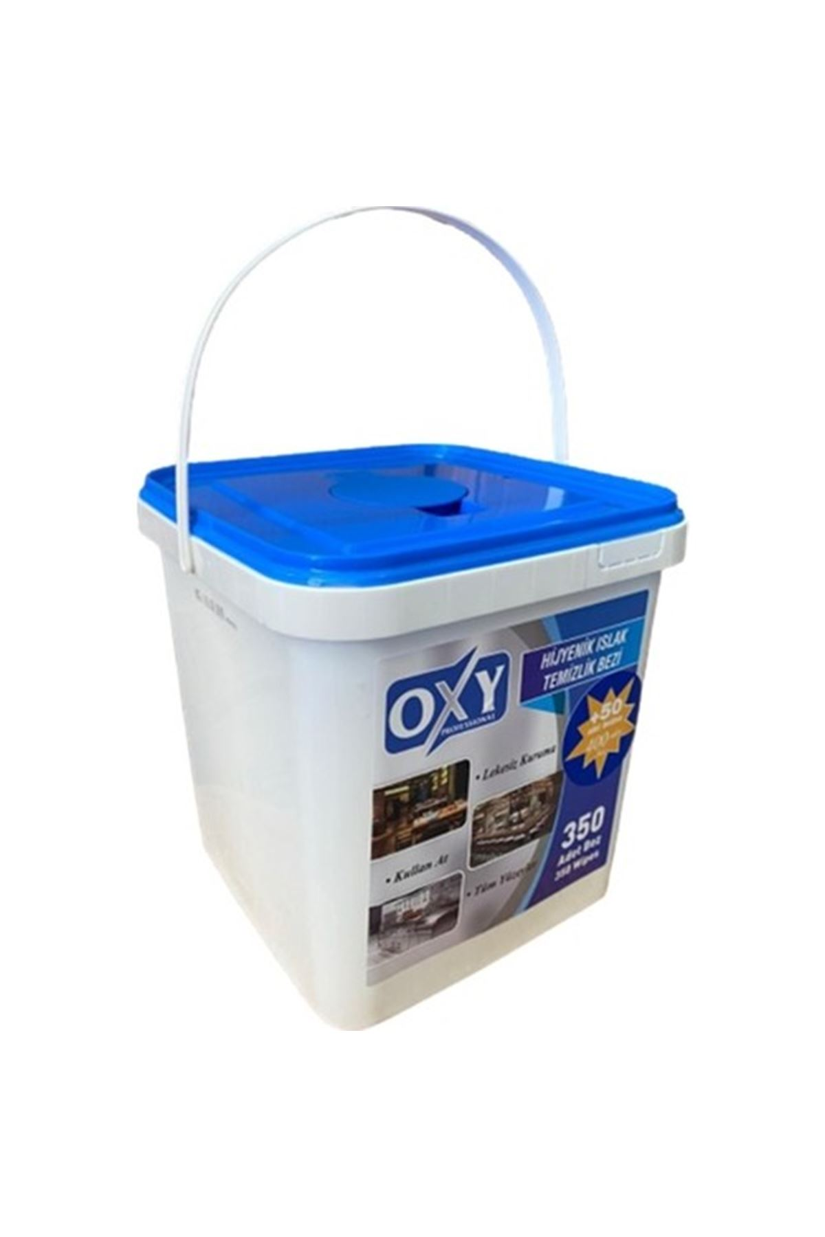Oxy Professional Hijyenik Islak Temizlik Bezi 350+50 Adet